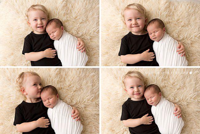 big brother and newborn baby girl photos