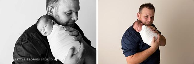 father and son newborn photos brisbane