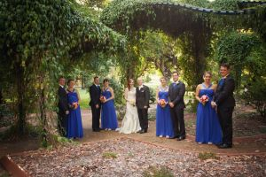 Wedding party City Botanic Gardens