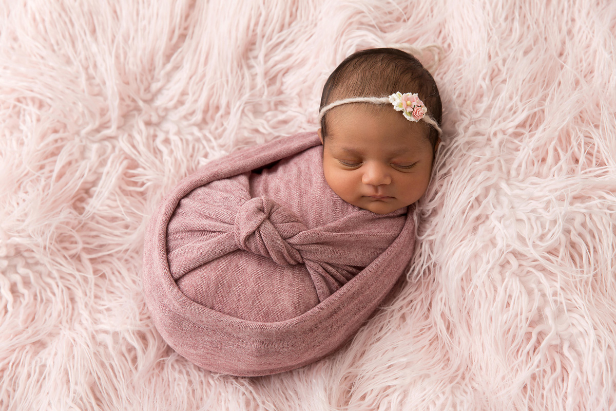 sweet pink baby girl newborn photos