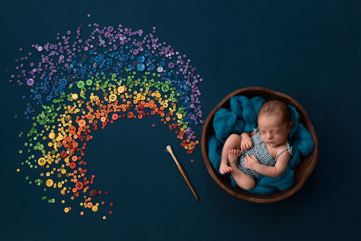 rainbow baby newborn photographer brisbane